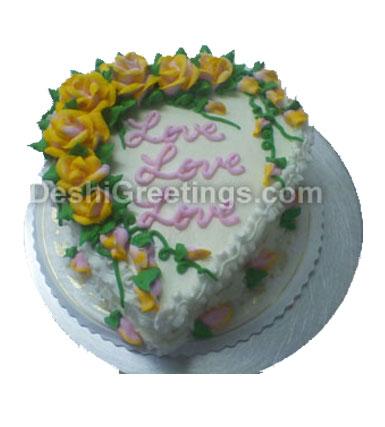 Vanilla Heart Cake 3 LB